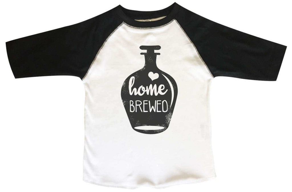 Home Brewed  BOYS OR GIRLS BASEBALL 3/4 SLEEVE RAGLAN - VERY SOFT TRENDY SHIRT B830 Funny Shirt 2T Toddler / Black