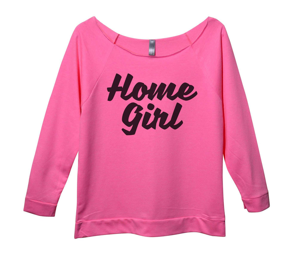 Home Girl Womens 3/4 Long Sleeve Vintage Raw Edge Shirt Funny Shirt Small / Pink