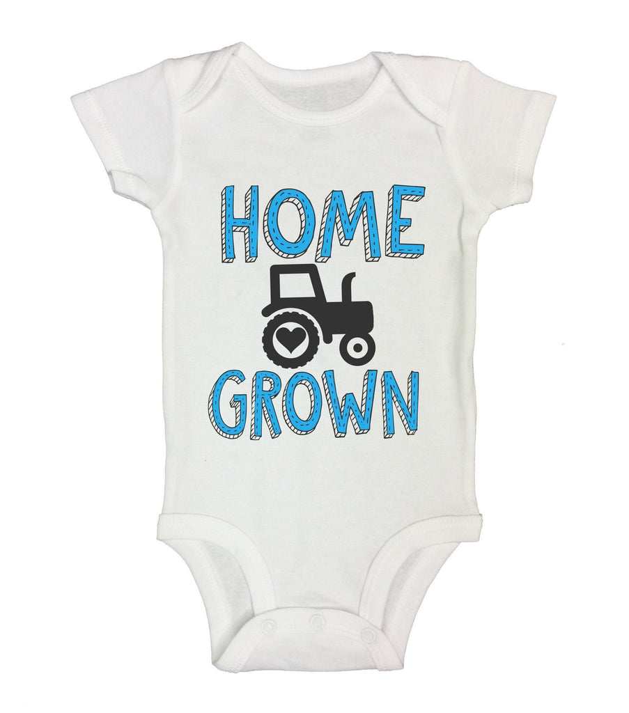 Home Grown Funny Kids Onesie Funny Shirt Short Sleeve 0-3 Months