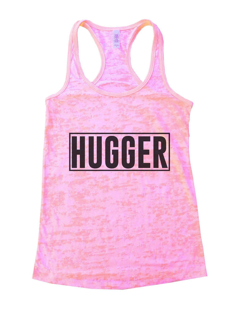 Hugger Burnout Tank Top By Funny Threadz Funny Shirt Small / Light Pink