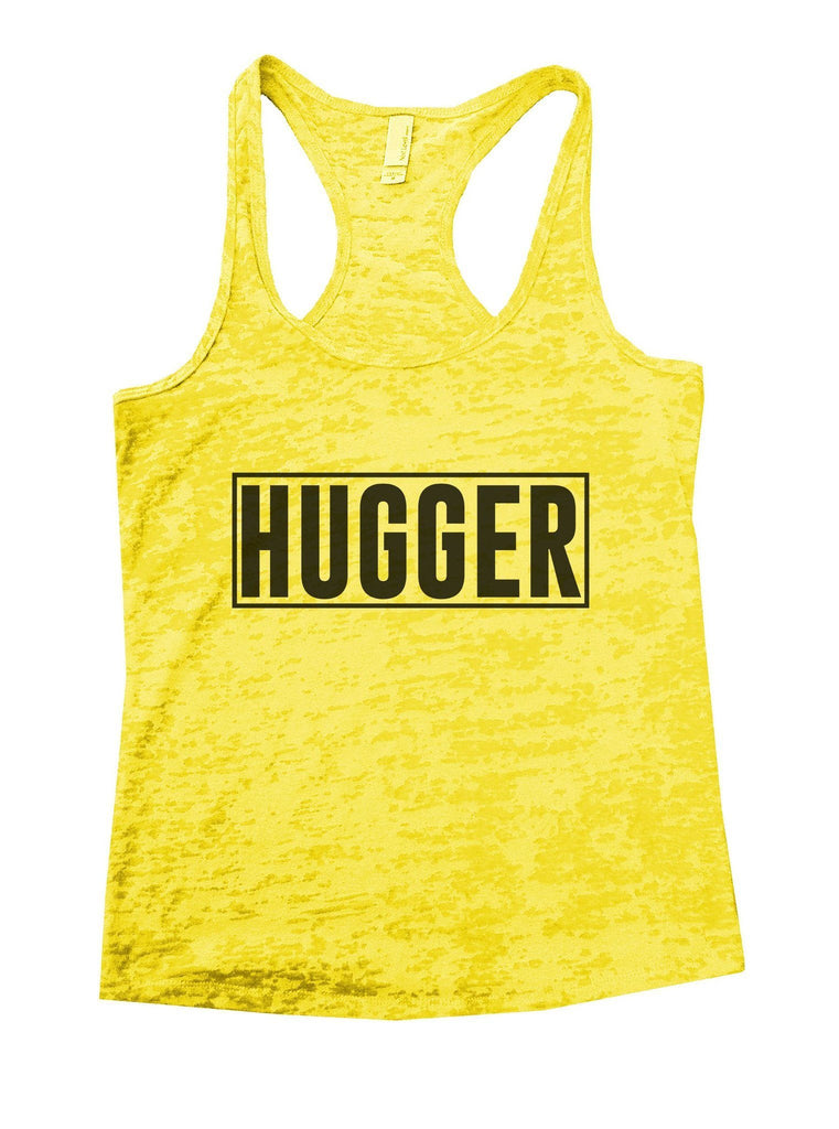 Hugger Burnout Tank Top By Funny Threadz Funny Shirt Small / Yellow