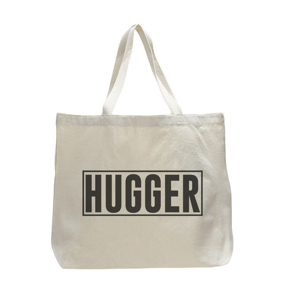 Hugger - Trendy Natural Canvas Bag - Funny and Unique - Tote Bag Funny Shirt