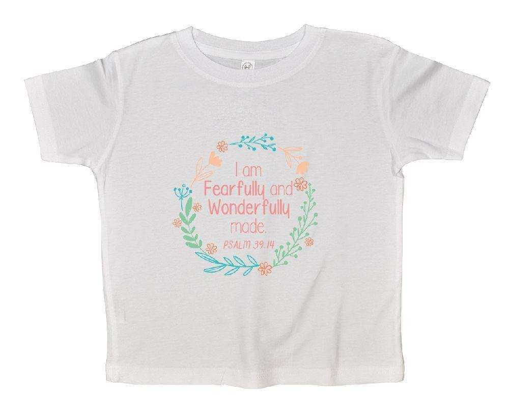 I Am Fearfully And Wonderfully Made Funny Kids Onesie Funny Shirt 2T White Shirt