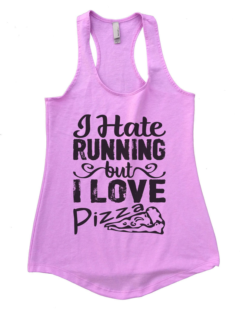 I Hate Running But I Love Pizza Womens Workout Tank Top Funny Shirt Small / Lilac