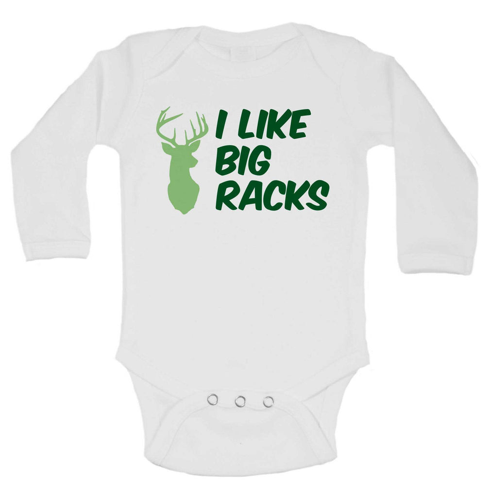 I Like Big Racks Funny Kids Onesie Funny Shirt Long Sleeve 0-3 Months