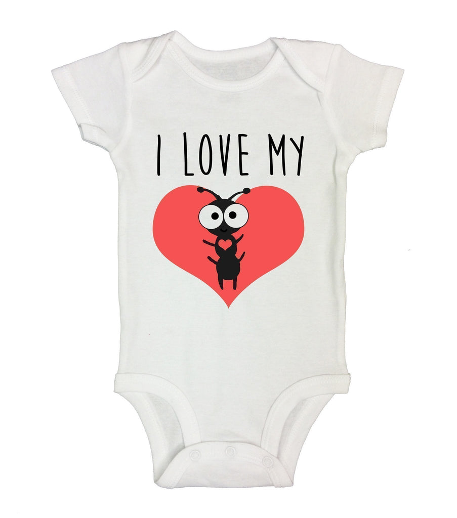 I Love My Aunt Funny Kids Onesie Funny Shirt Short Sleeve 0-3 Months