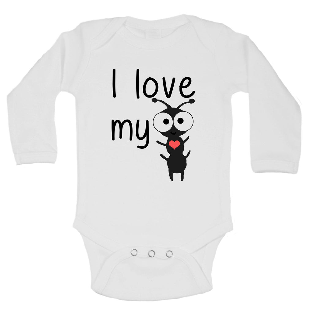 I Love My Aunt Funny Kids Onesie Funny Shirt Long Sleeve 0-3 Months
