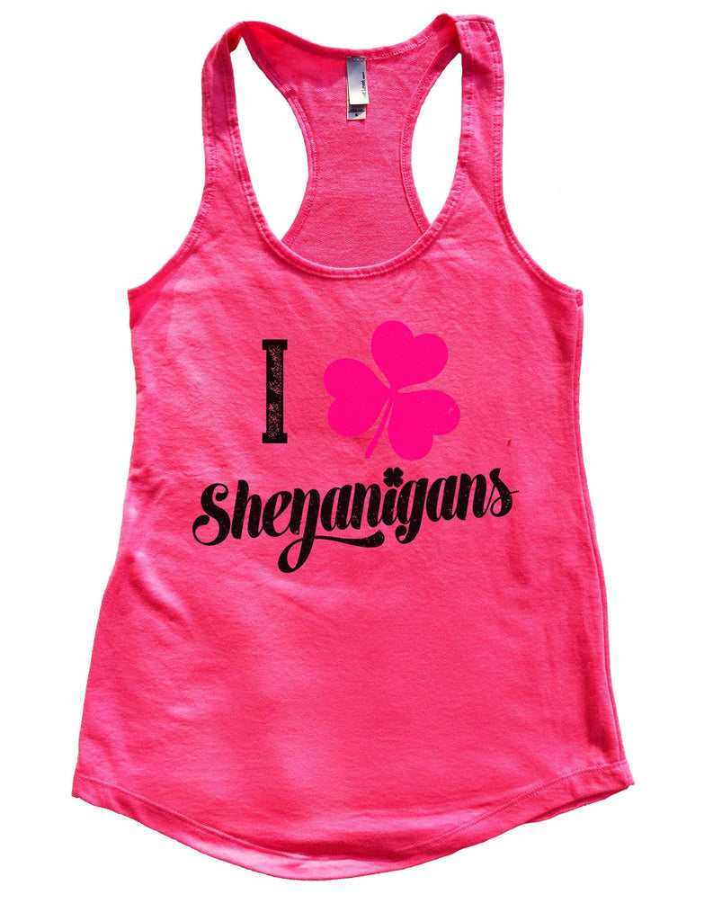I Shenanigans Womens Workout Tank Top Funny Shirt Small / Hot Pink