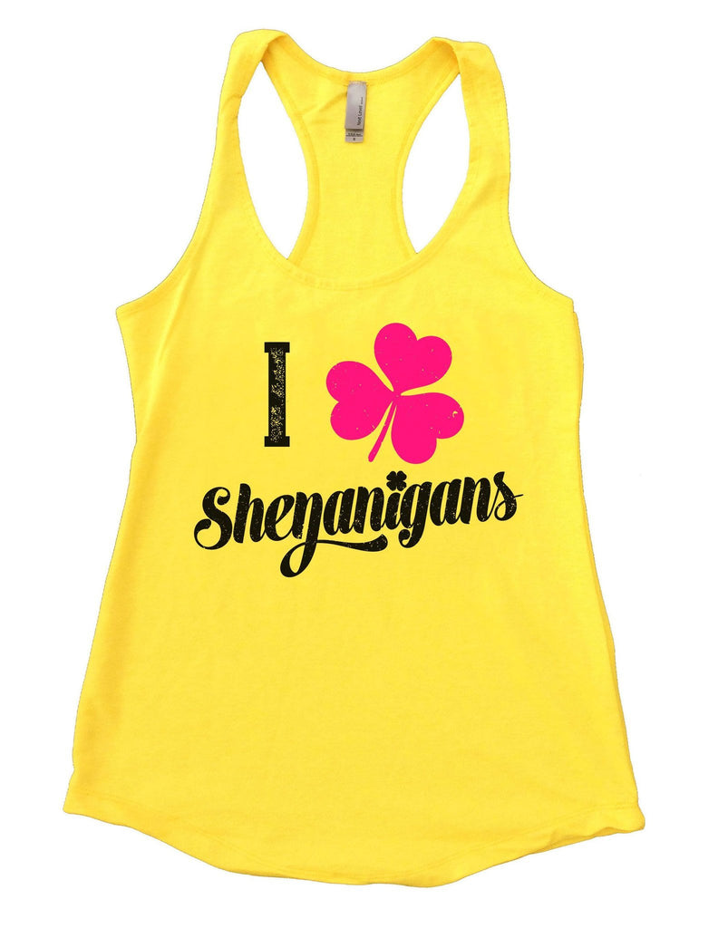 I Shenanigans Womens Workout Tank Top Funny Shirt Small / Yellow
