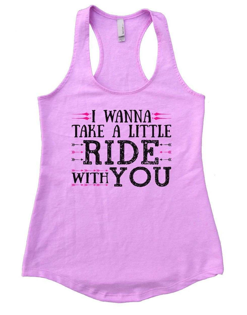 I WANNA TAKE A LITTLE RIDE WITH YOU Womens Workout Tank Top Funny Shirt Small / Lilac