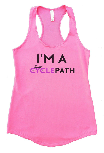 I'm A CyclePath Womens Workout Tank Top Funny Shirt Small / Heather Pink