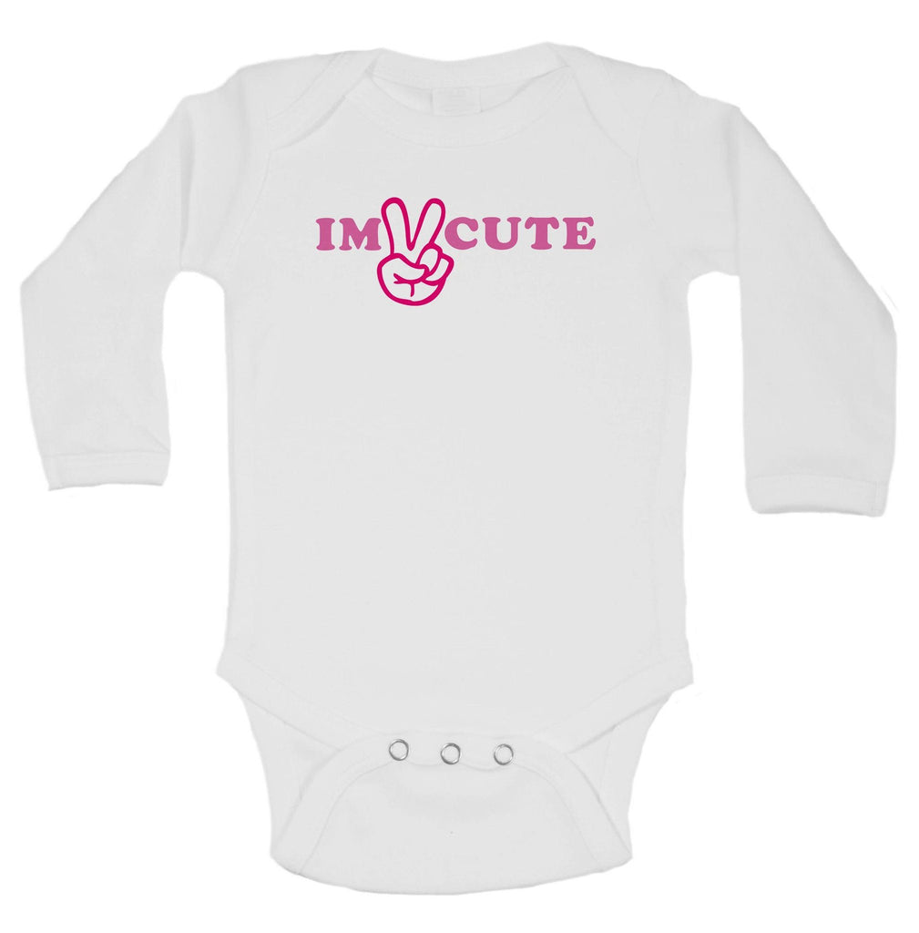 Im Cute Funny Kids Onesie Funny Shirt Long Sleeve 0-3 Months