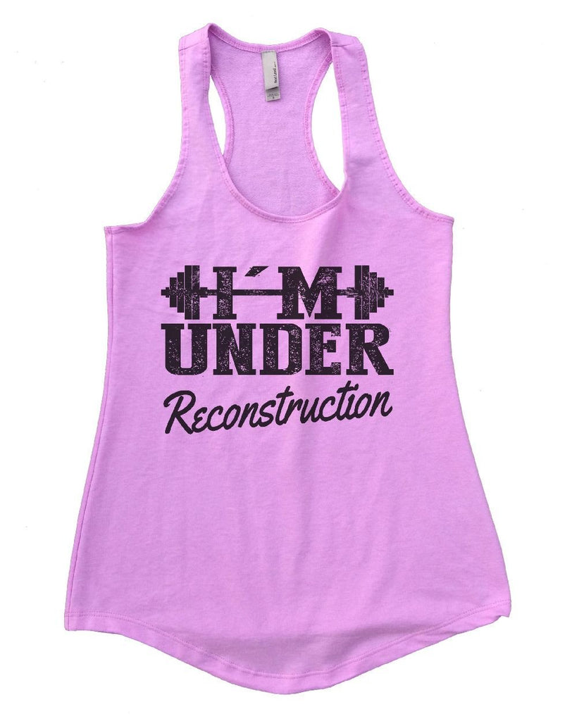I'M UNDER Reconstruction Womens Workout Tank Top Funny Shirt Small / Lilac