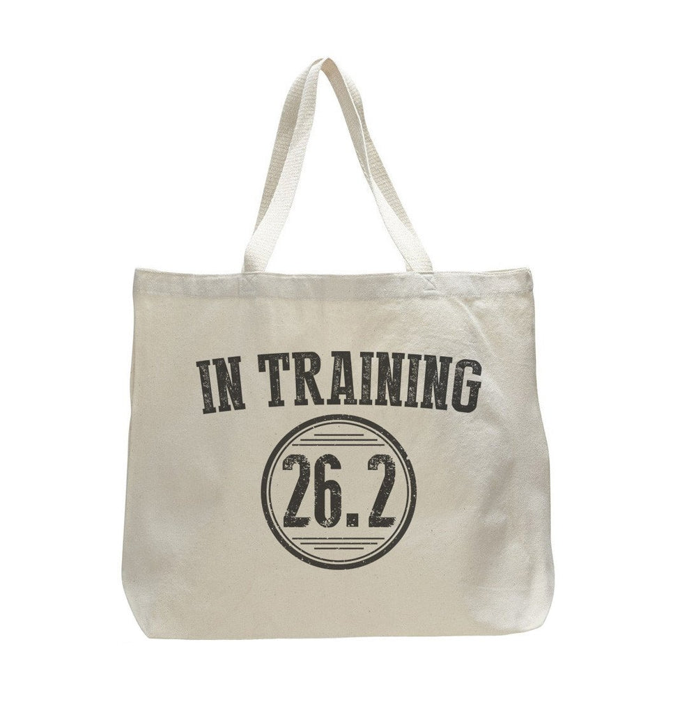 In Training 26.2 - Trendy Natural Canvas Bag - Funny and Unique - Tote Bag Funny Shirt