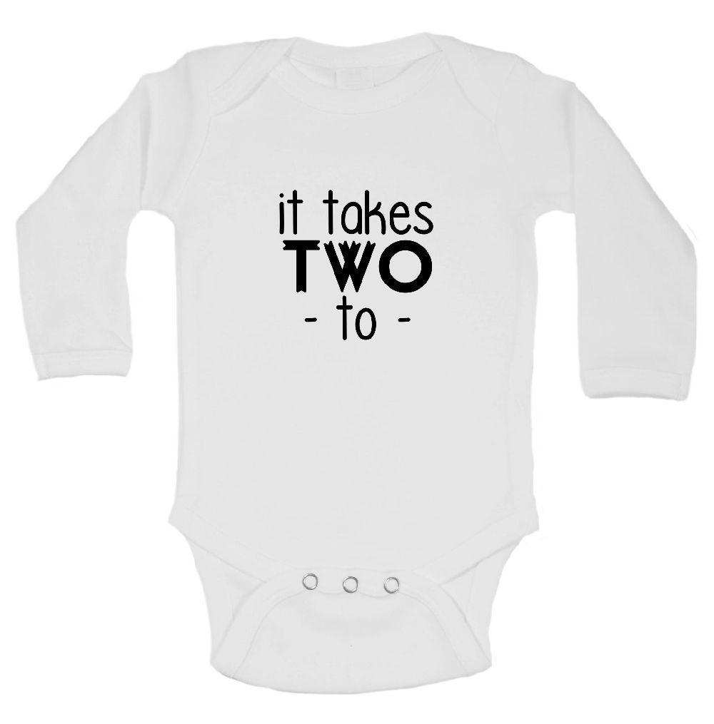 It Takes Two  Funny Kids Onesie - FunnyThreadz.com