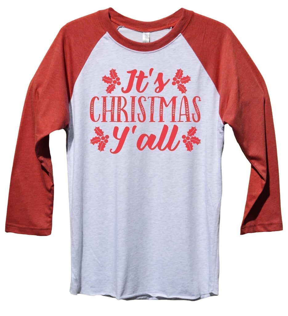 It's Christmas Y' All Funny Christmas - Unisex Baseball Tee Mens And Womens Funny Shirt