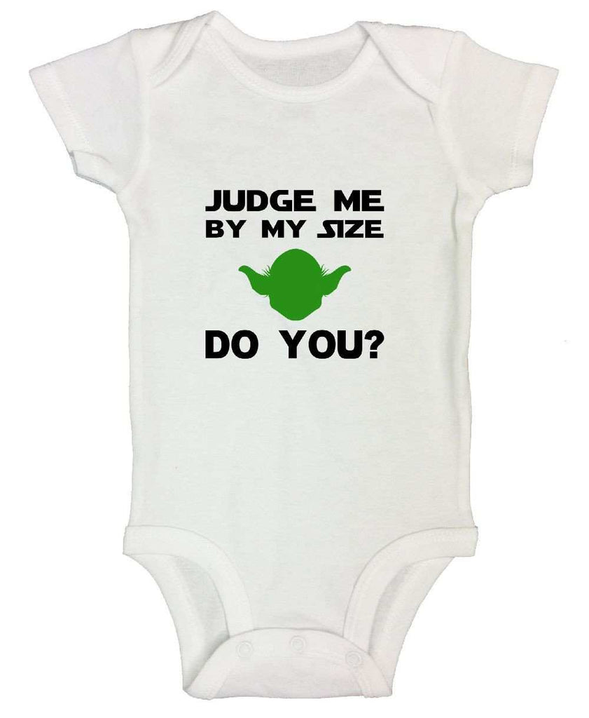 Judge Me By My Size Do You? Star Wars Funny Kids Onesie Funny Shirt Short Sleeve 0-3 Months