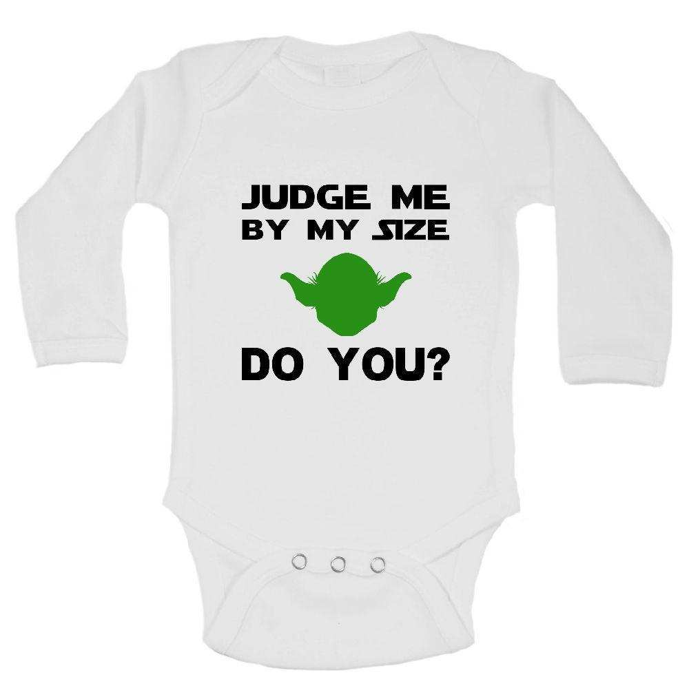 Judge Me By My Size Do You? Star Wars Funny Kids Onesie Funny Shirt Long Sleeve 0-3 Months