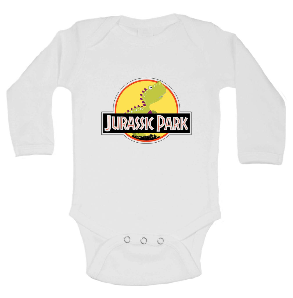 Jurassic Park Funny Kids Onesie Funny Shirt Long Sleeve 0-3 Months