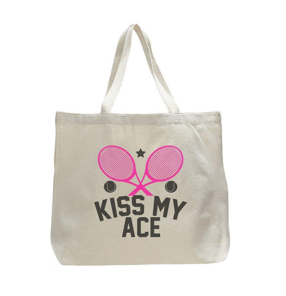 Kiss My Ace - Trendy Natural Canvas Bag - Funny and Unique - Tote Bag Funny Shirt