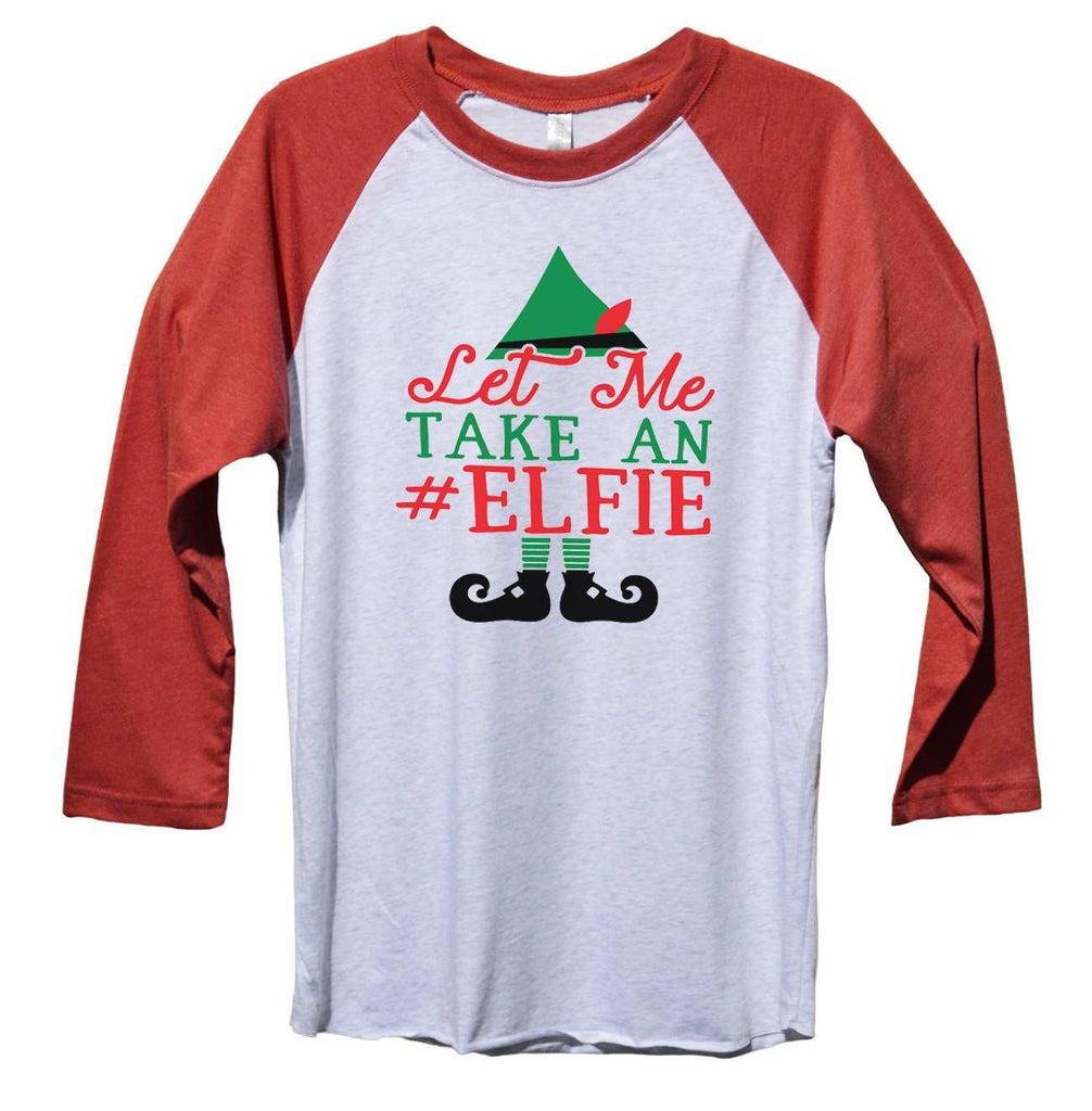 Let Me Take An Elfie Funny Christmas - Unisex Baseball Tee Mens And Womens Funny Shirt