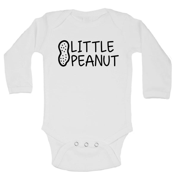 Little Peanut Funny Kids Onesie Funny Shirt Long Sleeve 0-3 Months