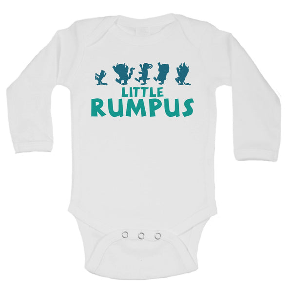 Little Rumpus Funny Kids Onesie Funny Shirt Long Sleeve 0-3 Months