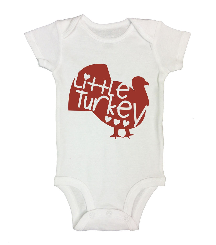 Little Turkey Funny Kids Onesie Funny Shirt Short Sleeve 0-3 Months