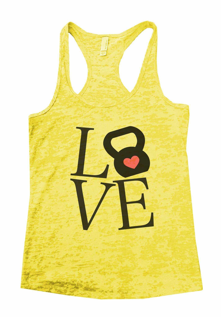 Love Burnout Tank Top By Funny Threadz Funny Shirt Small / Yellow