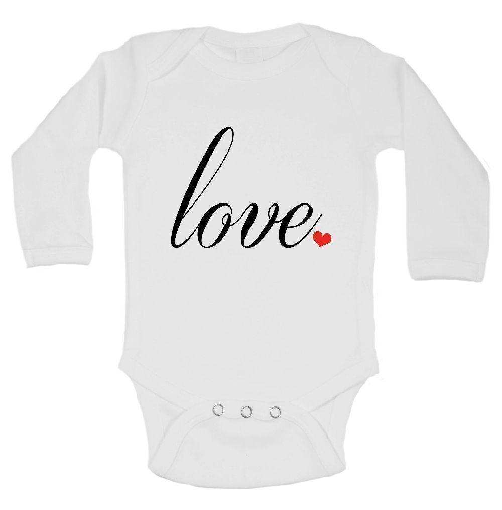 Love Funny Kids Onesie Funny Shirt Long Sleeve 0-3 Months