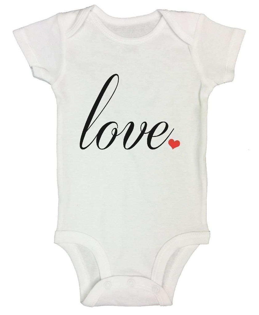 Love Funny Kids Onesie Funny Shirt Short Sleeve 0-3 Months