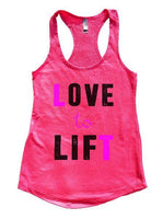 Love To Lift Womens Workout Tank Top Funny Shirt Small / Hot Pink