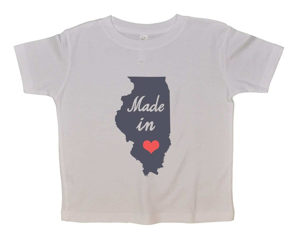 Made In Love Funny Kids Onesie Funny Shirt 2T White Shirt