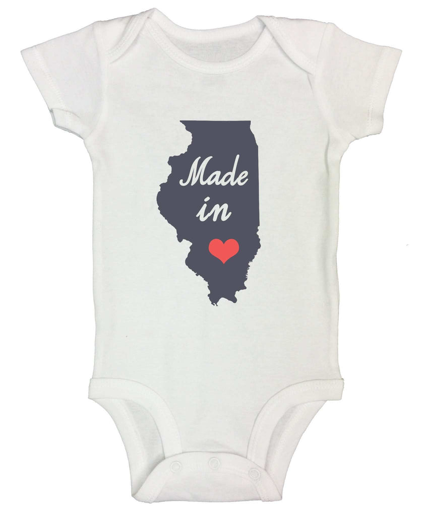 Made In Love Funny Kids Onesie Funny Shirt Short Sleeve 0-3 Months
