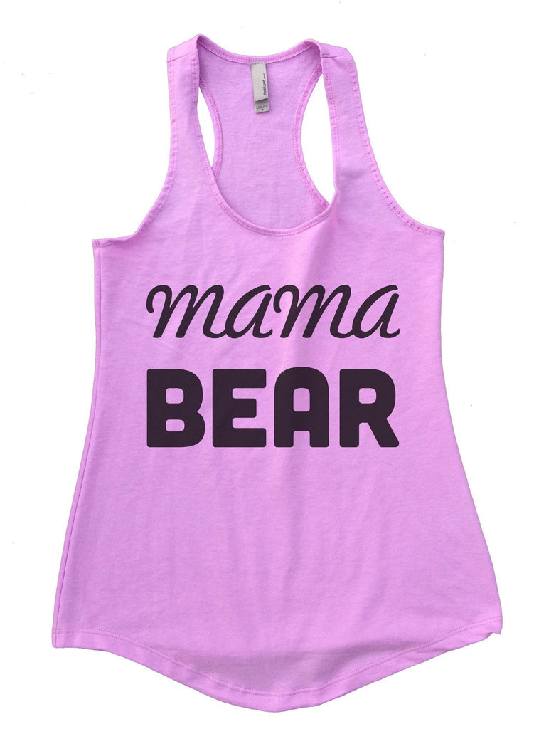 Mama Bear Womens Workout Tank Top Funny Shirt Small / Lilac