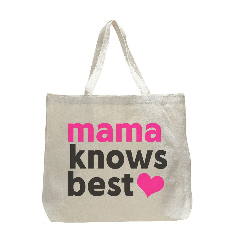 Mama Knows Best - Trendy Natural Canvas Bag - Funny and Unique - Tote Bag Funny Shirt