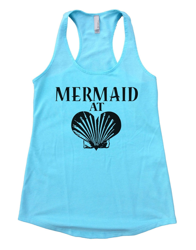Mermaid At Love Womens Workout Tank Top Funny Shirt Small / Cancun Blue