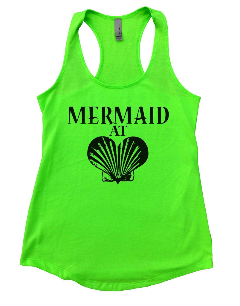 Mermaid At Love Womens Workout Tank Top Funny Shirt Small / Neon Green