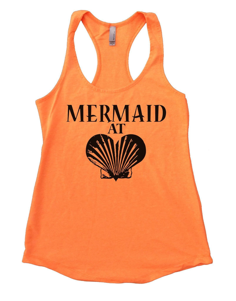 Mermaid At Love Womens Workout Tank Top Funny Shirt Small / Neon Orange