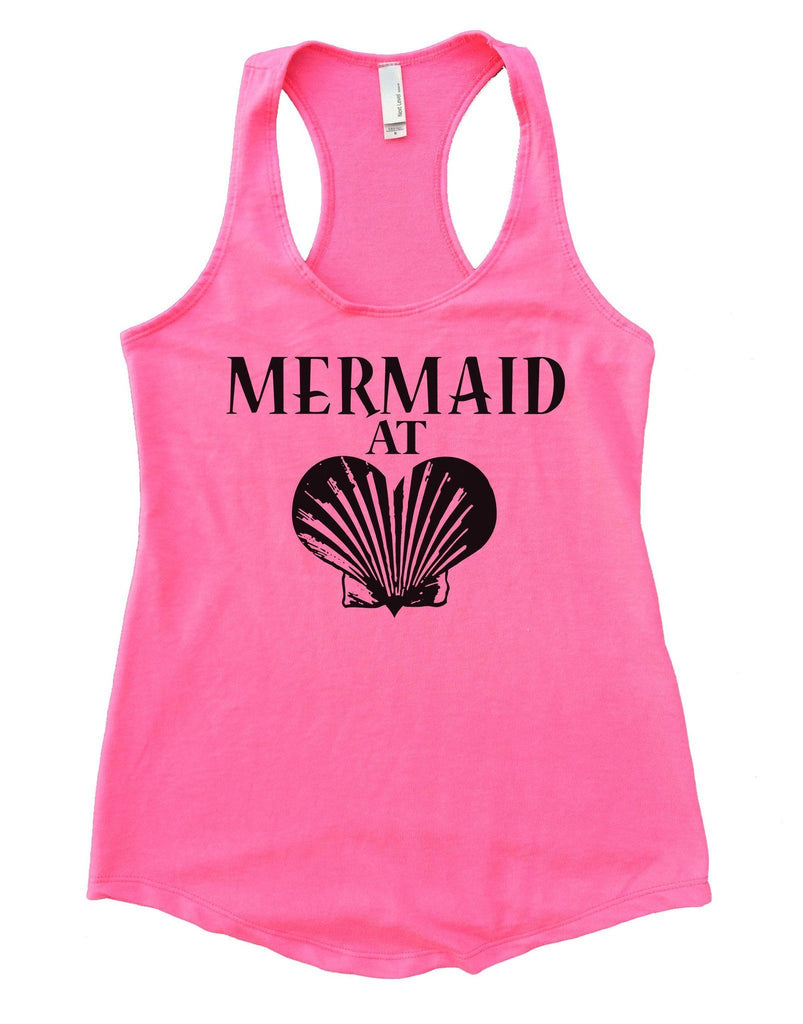 Mermaid At Love Womens Workout Tank Top Funny Shirt Small / Heather Pink