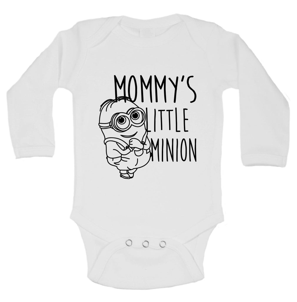 Mommy's Little Minion Funny Kids Onesie Funny Shirt Long Sleeve 0-3 Months
