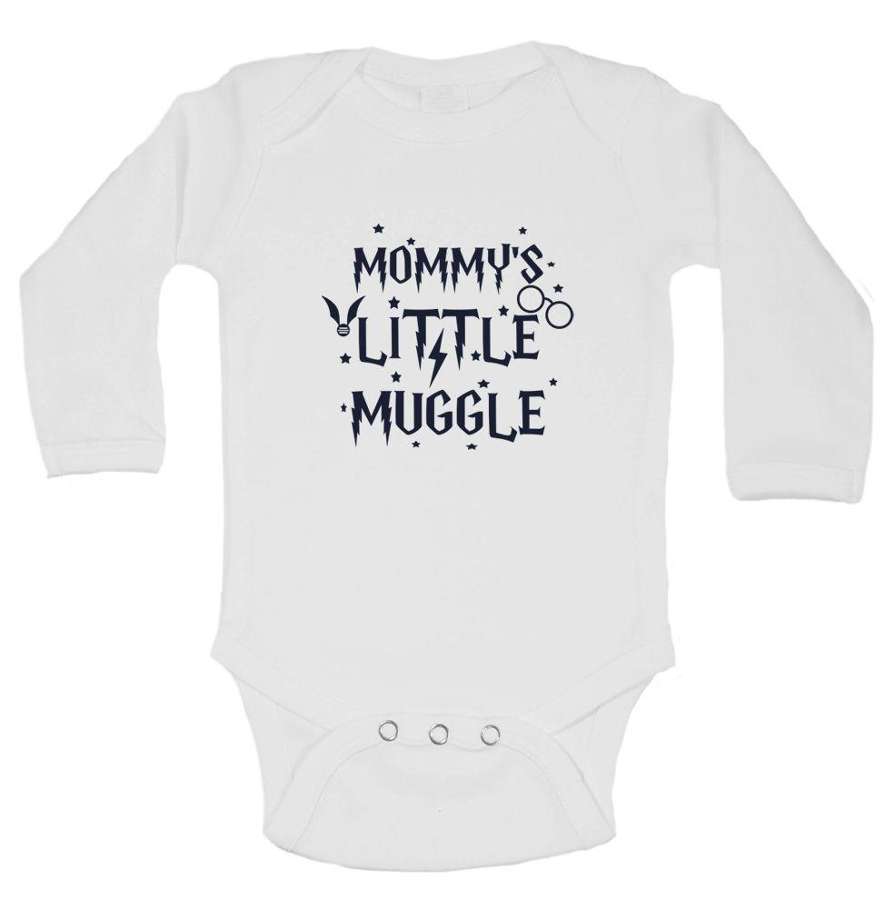 Mommy's Little Muggle Funny Kids Onesie Funny Shirt Long Sleeve 0-3 Months