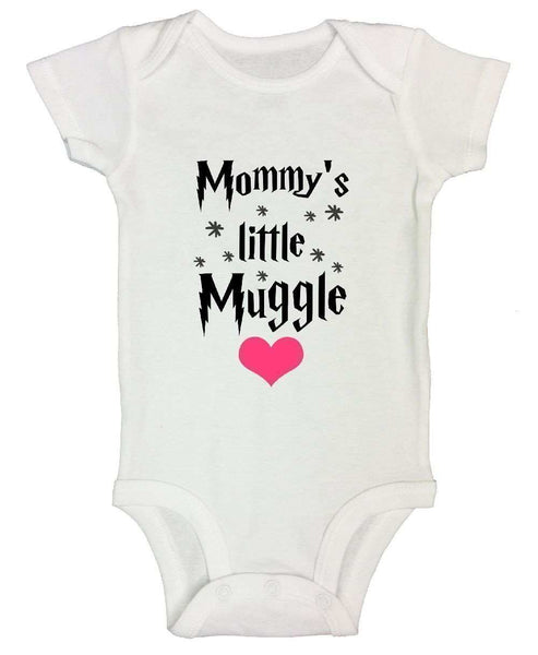 Mommy's Little Muggle FUNNY KIDS ONESIE Funny Shirt Short Sleeve 0-3 Months