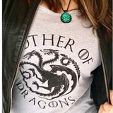 Mother Of Dragons Womens 3/4 Long Sleeve Vintage Raw Edge Shirt Funny Shirt