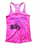 Motorcycle Hair Dont Care Burnout Tank Top By Funny Threadz Funny Shirt Small / Shocking Pink