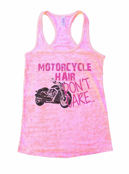 Motorcycle Hair Dont Care Burnout Tank Top By Funny Threadz Funny Shirt Small / Light Pink