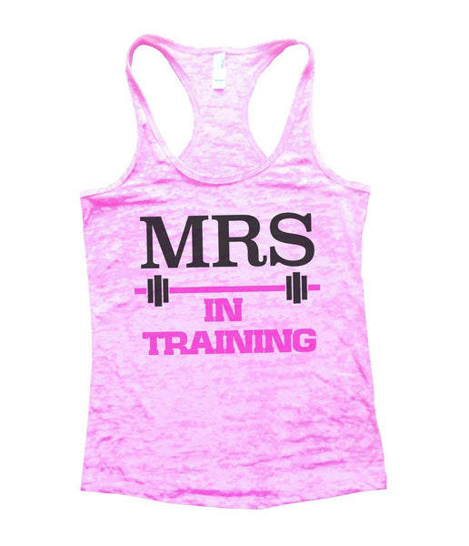 Mrs In Training Burnout Tank Top By Funny Threadz Funny Shirt Small / Light Pink