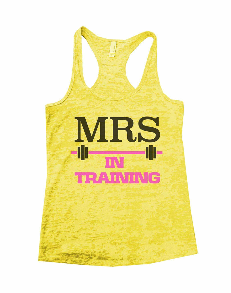 Mrs In Training Burnout Tank Top By Funny Threadz Funny Shirt Small / Yellow