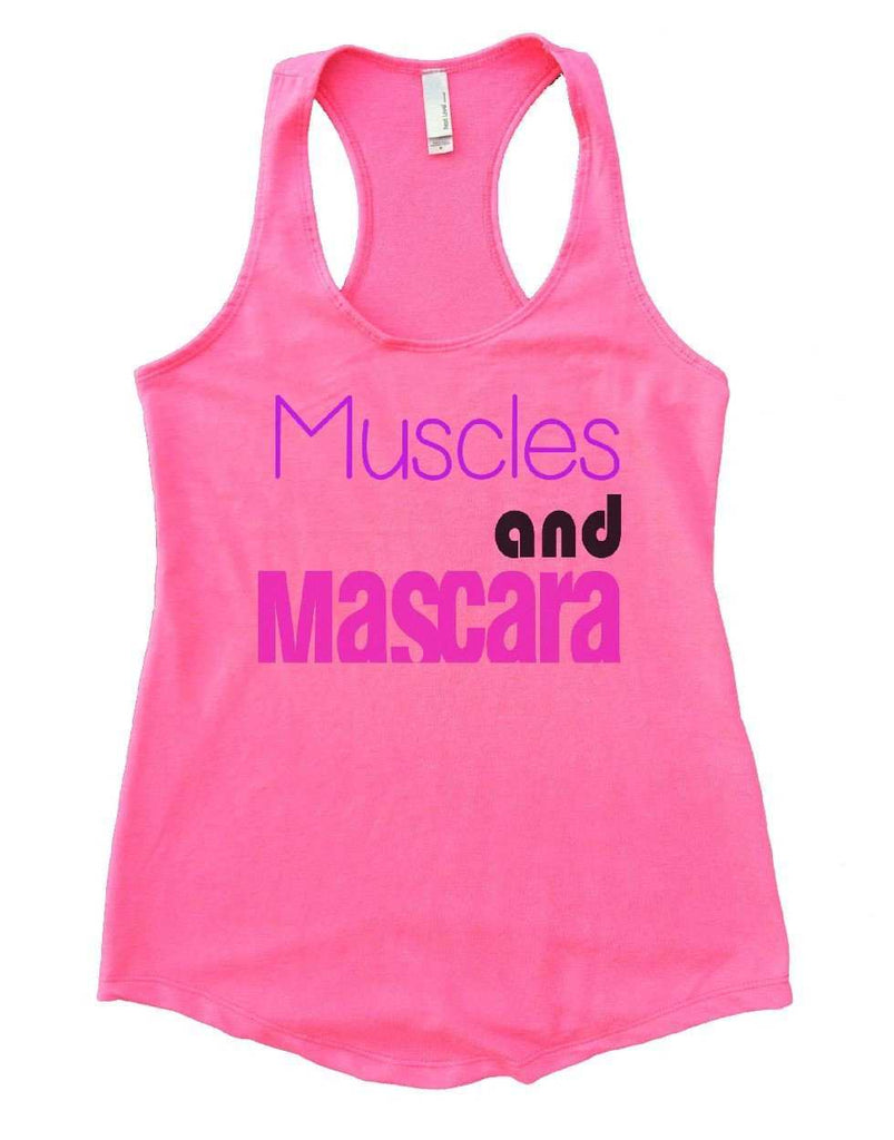 Muscles And Mascara Womens Workout Tank Top Funny Shirt Small / Heather Pink