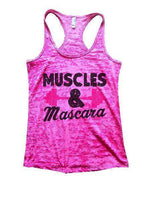Muscles & Mascara Burnout Tank Top By Funny Threadz Funny Shirt Small / Shocking Pink